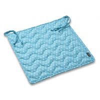 Seat cushion with ties Pikapoka - Turquoise