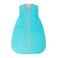 Baby sleeping bag Pikapoka NATUR - turquoise/brown