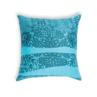 Decorative pillow Allegra – turquoise