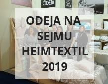 Odeja na sejmu Heimtextil v Frankfurtu 2019