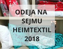 Odeja na sejmu Heimtextil 2018