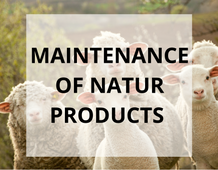 Maintenance of products from organically processed cotton and organic wool, washable wool