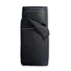 Črna satenasta posteljnina Odeja Basic